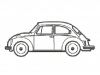 Stickmuster beetle coccinelle VW Kaefer