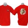 T-Shirt mit hochwertigem Siebdruck vorn und hinten