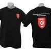 T-Shirt Militärakademie Kombination aus Stickerei (Brust) und Siebdruck (Rücken)