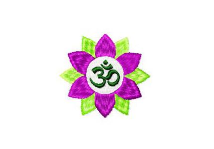 YOGA OM Zeichen Lotusbluete