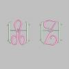 Stickmuster Stickdatei Alphabet Monogram 1 Einzelbuchstabe 2,40 EURO