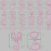 Stickmuster Stickdatei Alphabet Monogram 1 36.- €