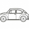 Stickmuster Stickdatei beetle VW Kaefer coccinelle 3,60 EURO