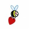 Stickmuster Stickdatei Biene mit Herz 3.- EURO