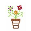 Stickmuster Stickdatei Blume Blumentopf 3,60 EURO