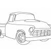 Stickmuster Stickdatei Chevy Pick Up 4,80 EURO