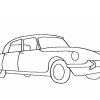Stickmuster Stickdatei Citroen DS Sihouette 3,60 EURO