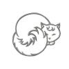 Stickmuster Stickdatei Katze liegend 3,60 EURO
